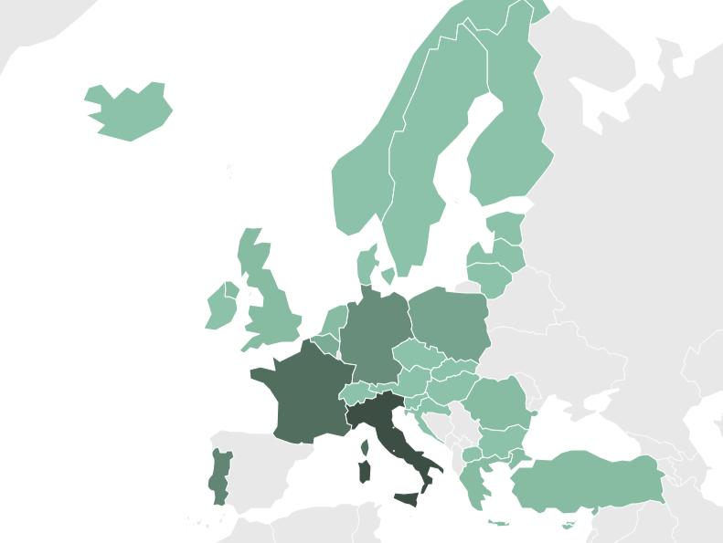 Convenios Erasmus activos