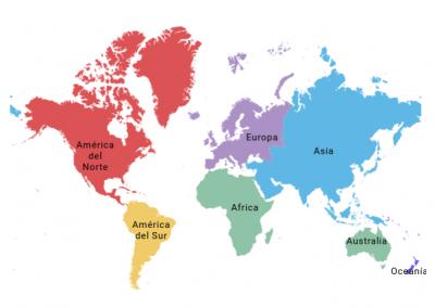 Estudiantes de posgrado por continente