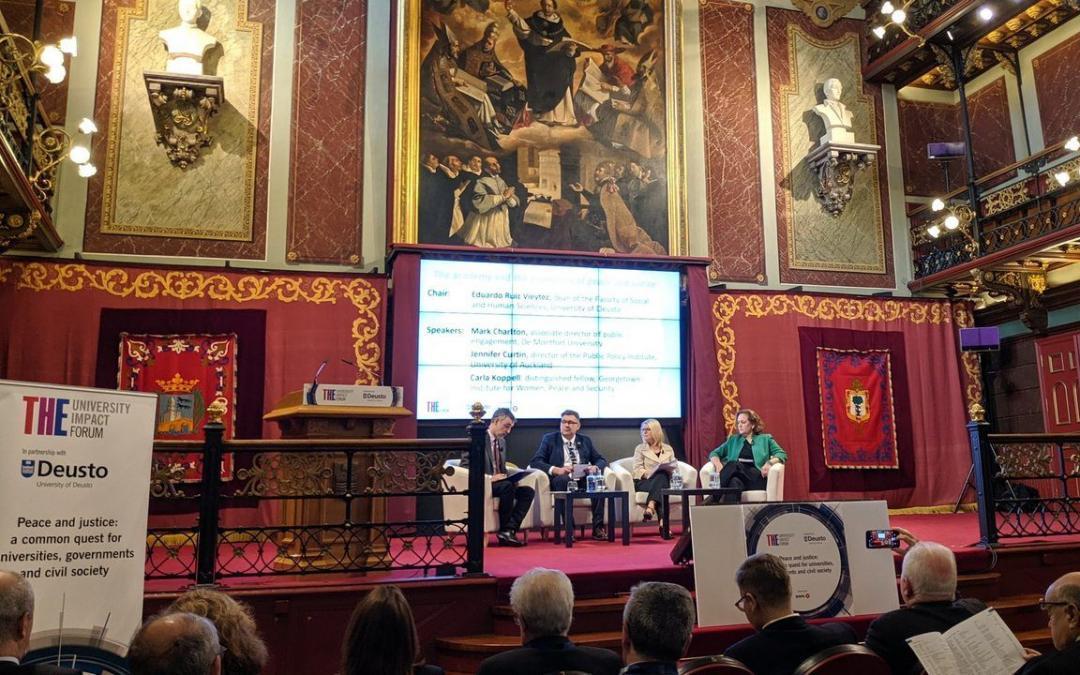 THE University Impact Forum: Paz, justicia e instituciones fuertes